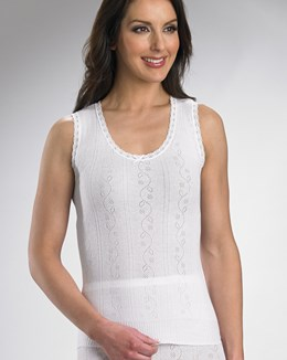 Chilprufe Fancy Knit No Sleeve Combed Cotton Cami