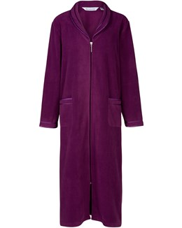 Slenderella Polar Fleece Zip Housecoat