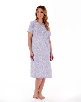 Paisley Floral Print 42'' Round Neck Nightdress