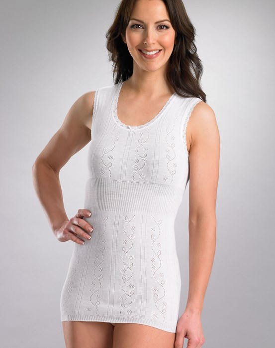 Chilprufe Fancy Knit Sleeveless Combed Cotton Vest
