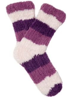 Luxury Stripe Chenille Leisure Sock