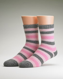 Slenderella Luxury Striped Sock