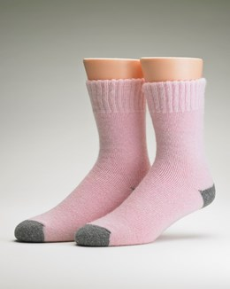 Luxury Leisure Sock with Contrast Heel & Toe