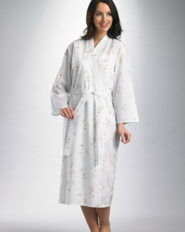Slenderella Rose Print Cotton Lawn Housecoat