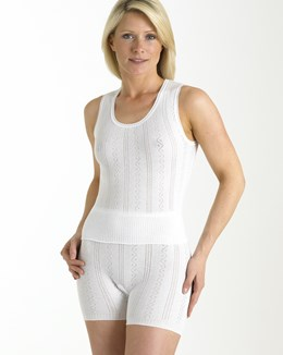 Brettles Fancy Knit Cotton No Sleeve Cami