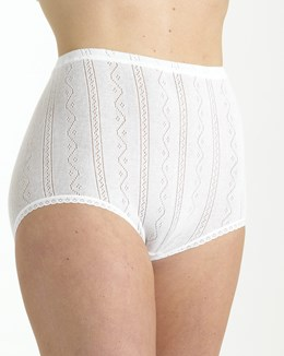 Brettles Fancy Knit Thermal Brief (Two Pair Pk)