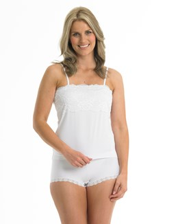 Gaspé Microfibre Cami Top with Backed Lace