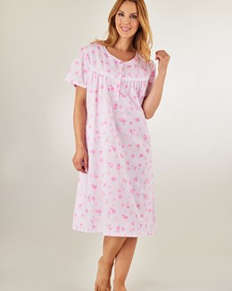 Slenderella Tulip Print Short Sleeve Polycotton Nightdress