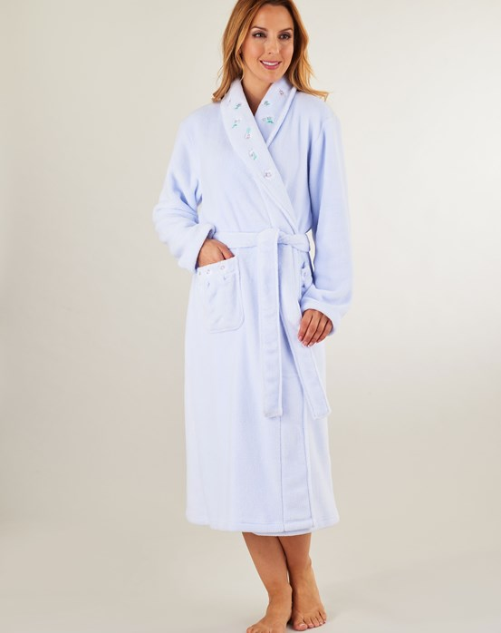 Nightwear » Housecoats & Dressing Gowns » Slenderella Embroidered ...