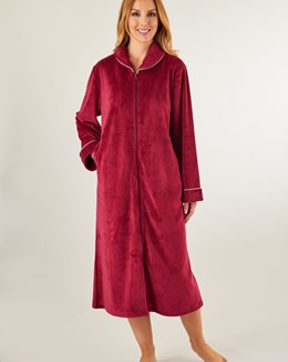 Gaspé Luxury Velvet Zip Housecoat