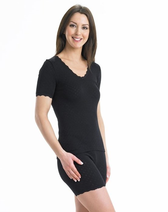 Vedonis Snuggles Brushed Thermal Short Sleeve Cami
