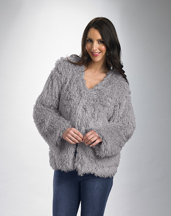 Slenderella Luxury Mongolian Faux Fur Jacket