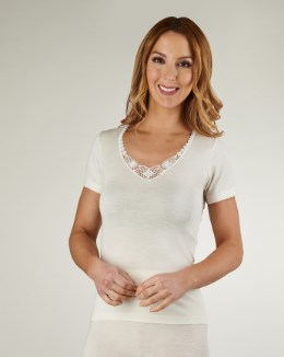 Slenderella Touch of Silk Short Sleeve Cami