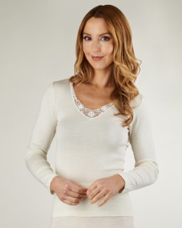 Slenderella Touch of Silk Long Sleeve Cami