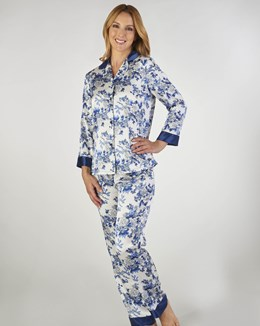 Gaspé Floral Satin Tailored Pyjama