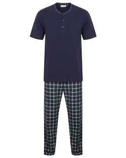 Walker Reid Check Flannel Jersey Top and Woven Trouser