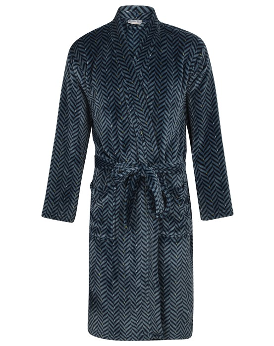 Walker Reid Herringbone Flannel Fleece Kimono
