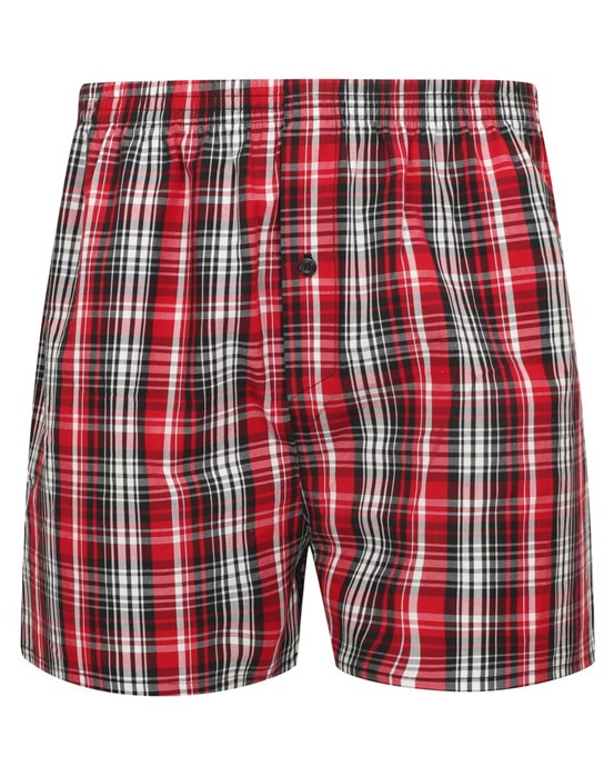Walker Reid Two Pair 100% Cotton Check Boxer Shorts