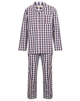Walker Reid Classic Long Sleeve Check 100% Cotton Check Pyjamas