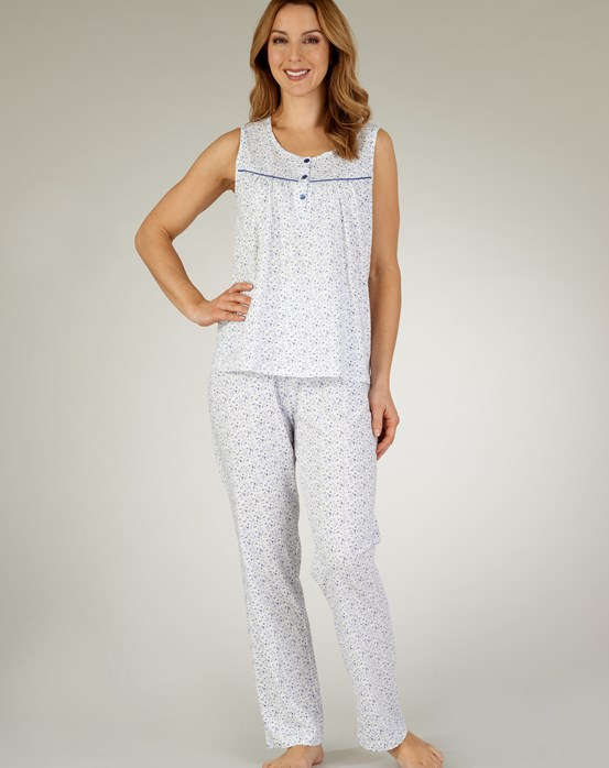 Slenderella Ditsy Sleeveless Tailored Pyjama