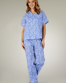 Slenderella Full-Print Woven Tailored Pyjama