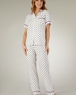 Gaspé Supersoft Graphic Print Tailored Pyjama