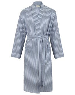 Walker Reid 100% Cotton Striped Kimono Wrap