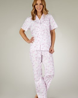 Slenderella Classic Cotton Floral Tailored Pyjama