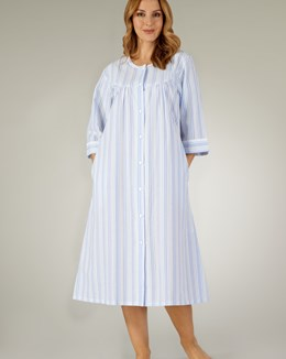 a3210d5177 ... Slenderella Pastel Stripe Button Down Housecoat