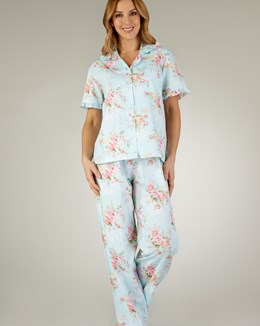 Slenderella Floral Print Short Sleeve Tailored Pyjama