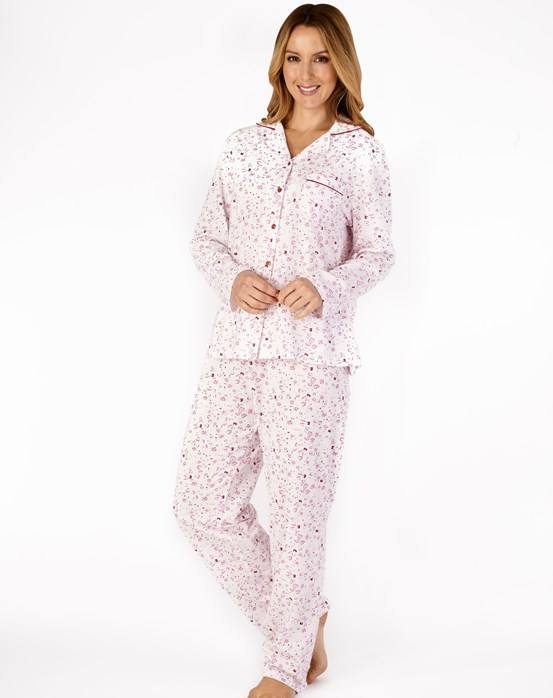 Classic Floral Long Sleeve Tailored Jersey Pyjama