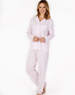 Printed Jacquard Long Sleeve Tailored Jersey Pyjama
