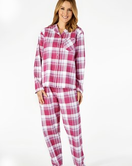 Woven Check Long Sleeve Tailored Flannel Pyjama