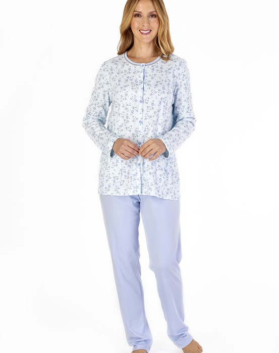 Ditsy Floral Long Sleeve Button Through Pyjama