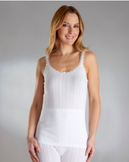 Vedonis Seamfree Fancy Knit Thermal French Neck Cami
