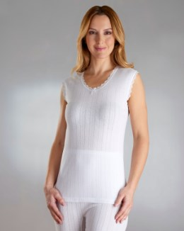 Vedonis Seamfree Fancy Knit Thermal Sleeveless Top