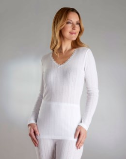 Vedonis Seamfree Fancy Knit Thermal Long Sleeve Top