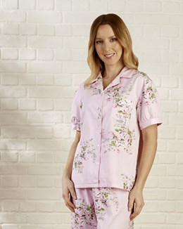 Rose Bouquet Short Sleeve Tailored Woven Pyjama